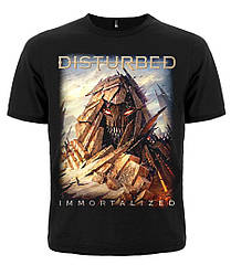 "Мужская черная футболка Disturbed ""Immortalized"", Размер S"