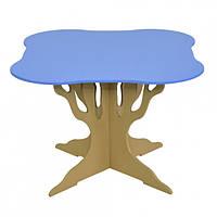 """Стол """"Мся"""" (ножка в форме дерева квадрат голубой) Бамсик /1/(5220)"""