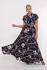 8ad8353a2f4 Синее платье в пол больших размеров Алена цепи  950 грн. Купить в ...