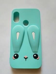 Чехол резиновый 3D Rabbit для Xiaomi Mi A2 Lite / Redmi 6 Pro (2 цвета)