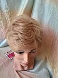 Короткий парик из термоволокна пшеничный 2763t-24В, фото 7