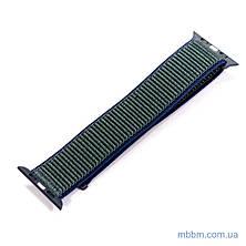 Ремешок Apple Watch 42/44mm Nylon Sport Loop blue/green, фото 3