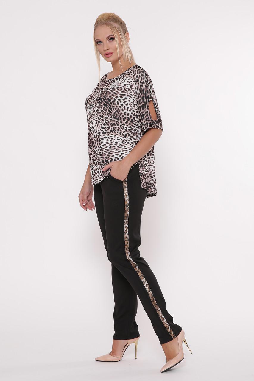Річний брючний костюм для повних Леопард