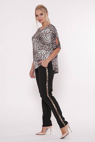 Летний брючный костюм для полных Леопард, фото 2