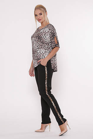 Річний брючний костюм для повних Леопард, фото 2