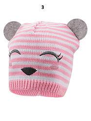 Детская демисезонная шапка на девочку, в расцветках, Объем 44-48
