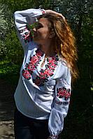 """Нарядная вышиванка женская """"Троянди"""", 52 р-ры, 450/390 (цена за 1 шт. + 60 гр.)"""
