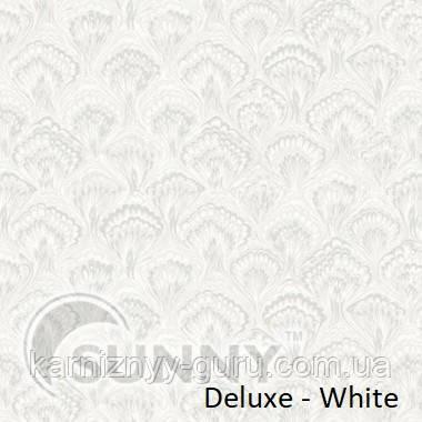 Рулонные шторы для окон в закрытой системе Sunny с плоскими направляющими - ПЛАСТИК, ткань Deluxe