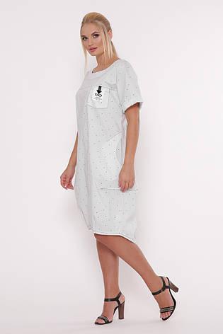 Літнє плаття для повних в стилі бохо Бріджит біле, фото 2
