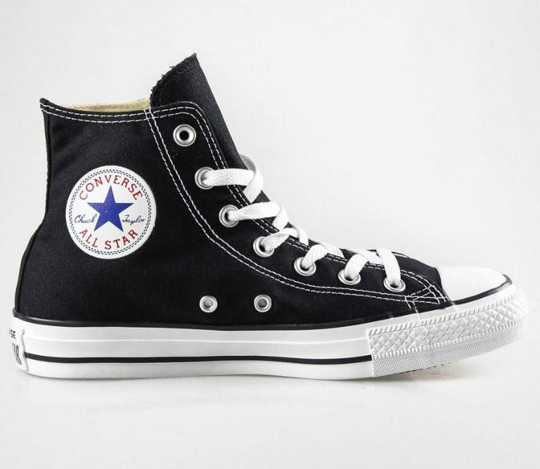 Кеди Converse - Classic Chuck Taylor All Star Hi   Black White — в ... e1217485ad4dd