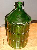 Бутыль стеклянный зеленый 22 л  твист III-58 с крышкой