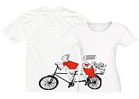 Парные футболки Он и Она