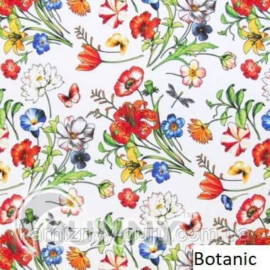 Рулонні штори для вікон в закритій системі Sunny з плоскими направляючими - ПЛАСТИК, тканина Botanic