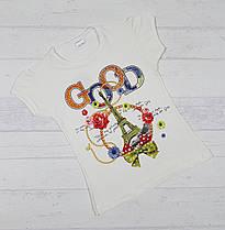 """Детская футболка  """"GOOD"""" для девочек 3,4,5,6,7 лет"""