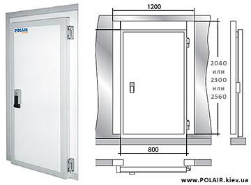 Двери на холодильные камеры POLAIR