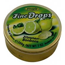 Леденцы Woogie Fine Drops Zitronen Bonbons лимонные, 200 гр.