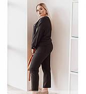/ Размер 48-50 / Женский стильный костюм-двойка 568Б / цвет черный, фото 2
