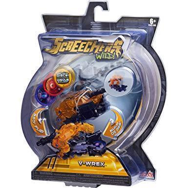Машинка дикий скричер Динозавр (Screechers Wild) V-WREX