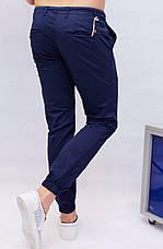 Слаксы мужские на манжет резинка  Rich famous синие, фото 2