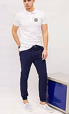 Слаксы мужские на манжет резинка  Rich famous синие, фото 3