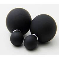 Серьги гвоздики Диор Dior Черные матовые, фото 1