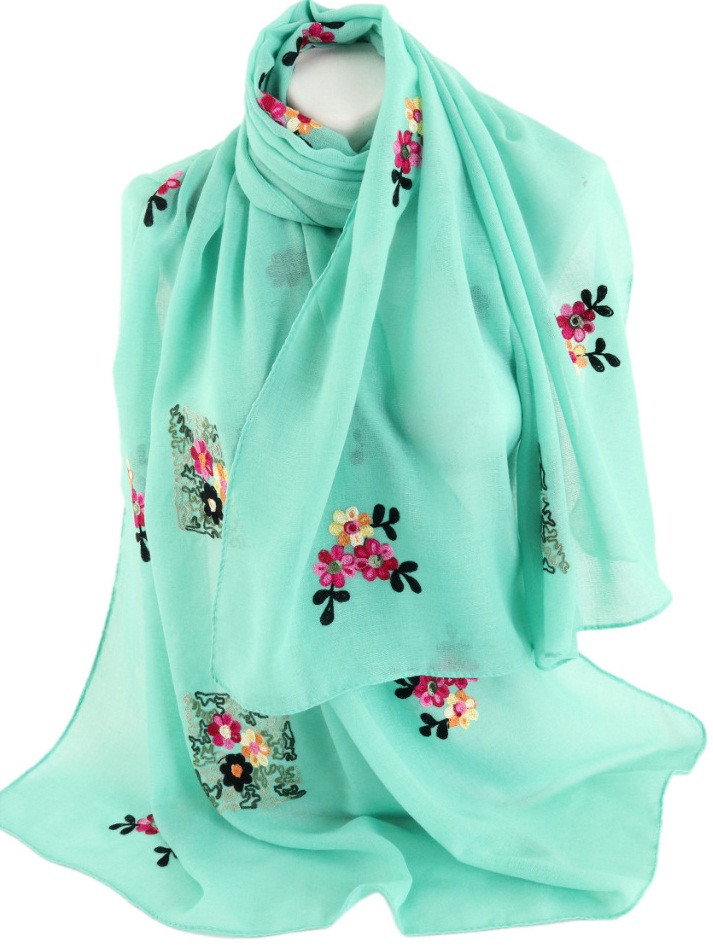 Женская шаль Trаum 2494-502 170х90 бирюзовый