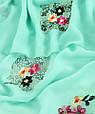 Женская шаль Trаum 2494-502 170х90 бирюзовый, фото 2