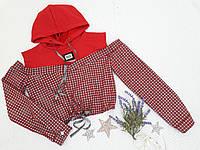 """Кроп-топ детский c капюшоном """"FASHION"""", размер 128-164, красный"""