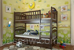 """Кровать двухъярусная деревянная """"Смайл"""" 0,9*2,0 сосна"""