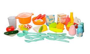 Игровой набор Детская Кухня 889-59-60 Розовый. 40 предметов. Из крана течет вода. Свет. Звук., фото 2