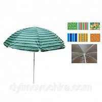 Зонт пляжный ромашка d1.8м антиветер серебро (микс) MH-2687(MH-2687)