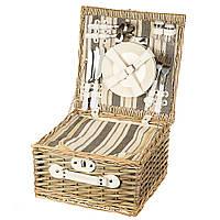 Корзина для пикника на 4 персоны + сумка-холодильник (029PPN)