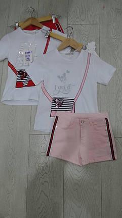 Футболка с шортами для девочек, фото 2