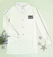 Рубашка на девочку, р. 128-164, молочный, фото 1