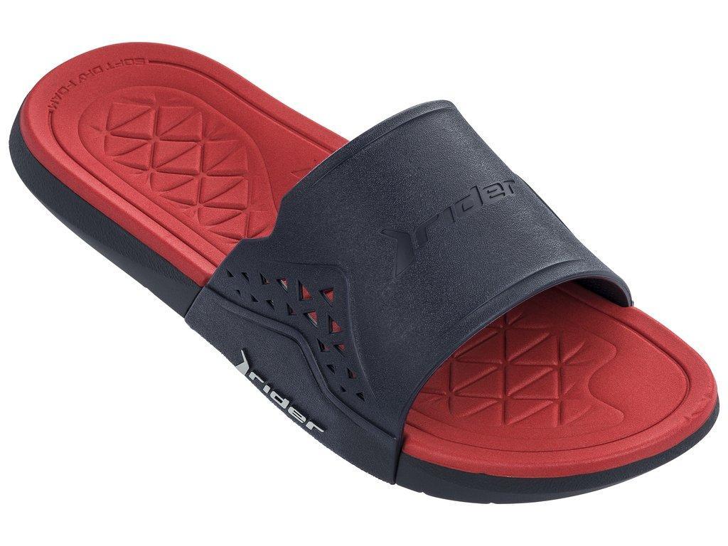 Оригинал Шлепанцы мужские 82496-24642 Rider Infinity II Slide man slipper blue/red Красные 2019
