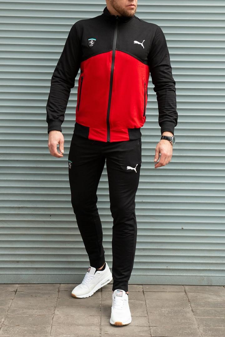 2b36b66130d Спортивный костюм Puma Ferrari , черный с красным - Интернет магазин