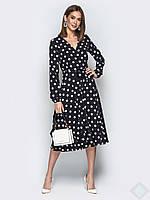 Классическое платье в горох с 44 по 48 размер