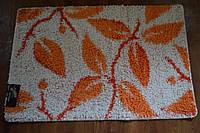 Коврики в ванную комнату Banyolin Shaggy,размер 120 х 80,оранжевые листья,Производитель Турция.