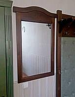 """Настенное зеркало в деревянной раме от производителя для хостелов и гостиниц """"Микель"""" (орех)"""