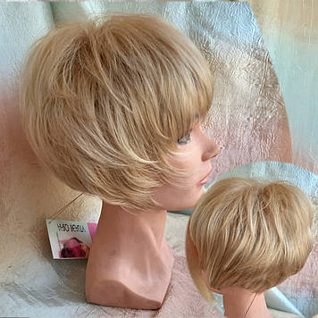 Парик боб-каре из канекалона пшеничный блонд AGATA-L24/613