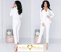 Женский брючный костюм белого цвета 42,44,46, фото 1