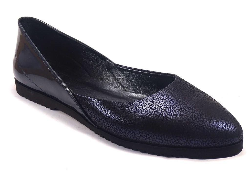 Балетки фиолетовые кожаные женская обувь больших размеров Scara V Lack Violet Leather BS by Rosso Avangard