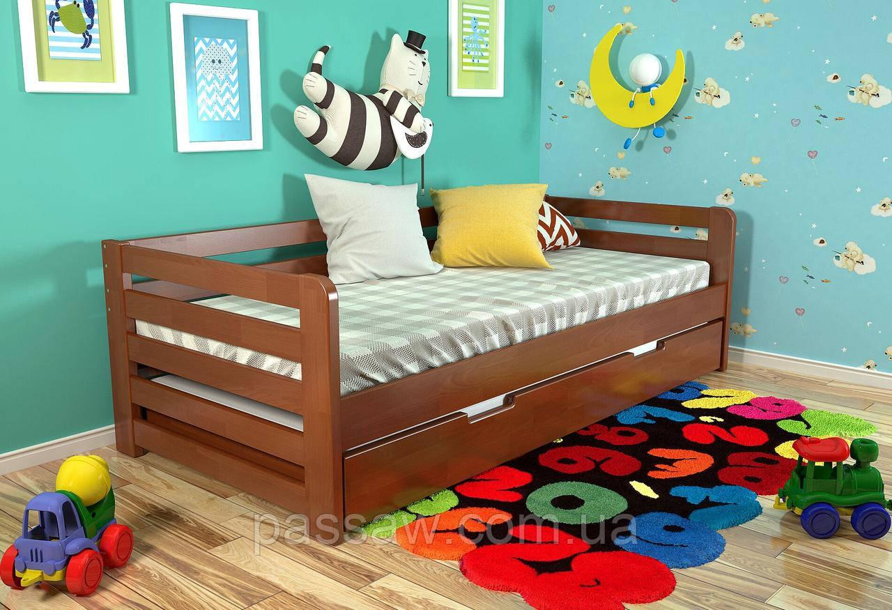 """Кровать деревянная """"Немо"""" 0,9*2,0 бук"""