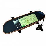 "Зеркало регистратор, 7"" сенсор, 2 камеры, Sim карта, GPS навигатор, WiFI, Android, фото 4"