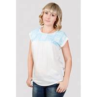 Блузки женские больших размеров, блузка с коротким  рукавом