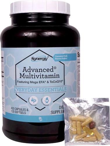 Vitacost Synergy Advanced Multi-Vitamin витамины, минералы, экстракты-все что можно 420 капсул + 120 ЖК 60 пак