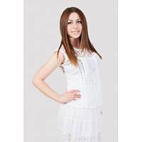 Белая нарядная летняя блузка