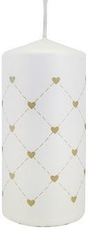 Свеча цилиндр сердце Bispol 10 cм (sw50x100-499-02-090)