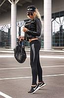 Спортивні жіночі лосини XL (50-52) Лосіни жіночі для танців фітнесу спорту тренувань Сірий