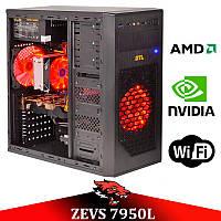 Мега Крутой Игровой ПК ZEVS PC7950L Phenom II X4 +GTX 1050 2GB +ИГРЫ!